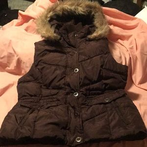 Girl's Faded Glory size 12/14 brown vest